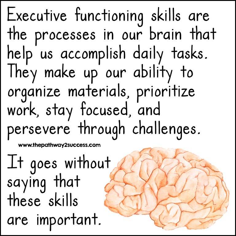 Executive functioning skills are important.