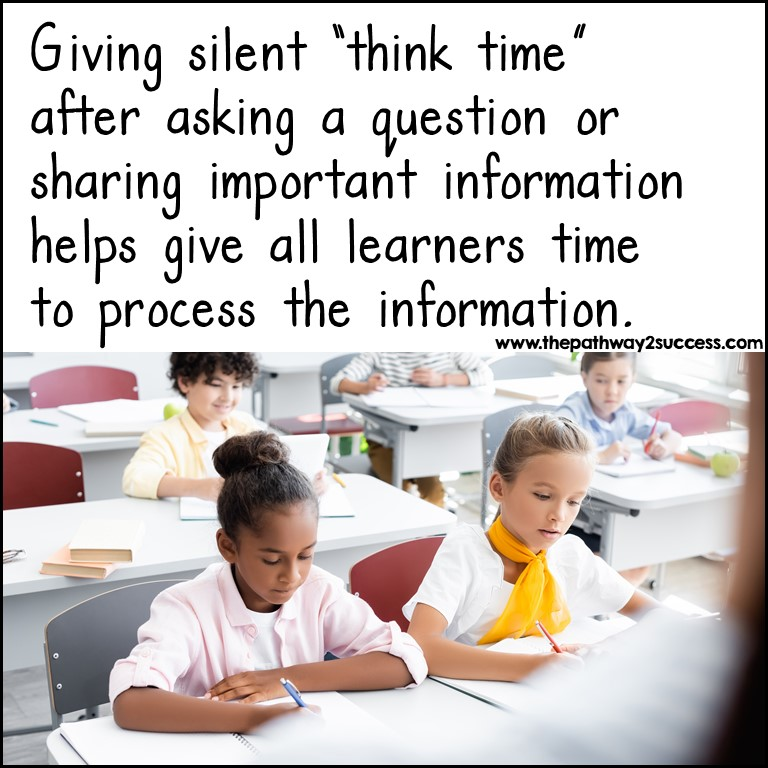 Give think time to build executive functioning skills