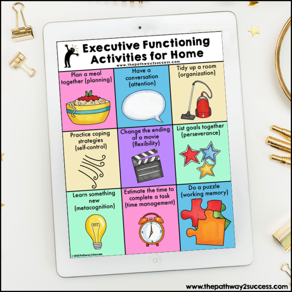 Executive functioning home ideas printable
