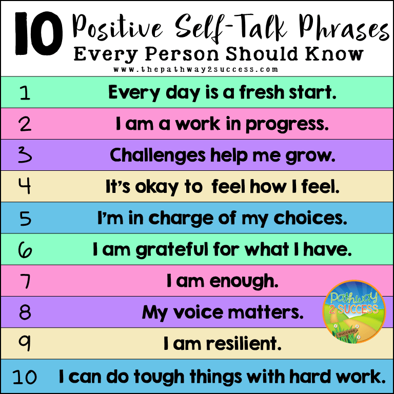 10 Positive Self-Talk Phrases Every Learner Should Know