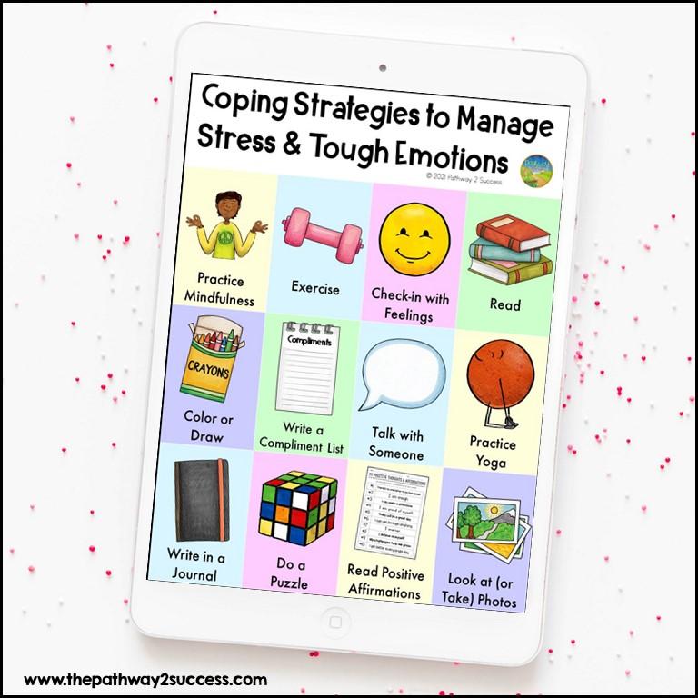 Coping strategies printable poster