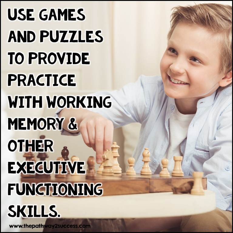 Games and puzzles provide working memory practice