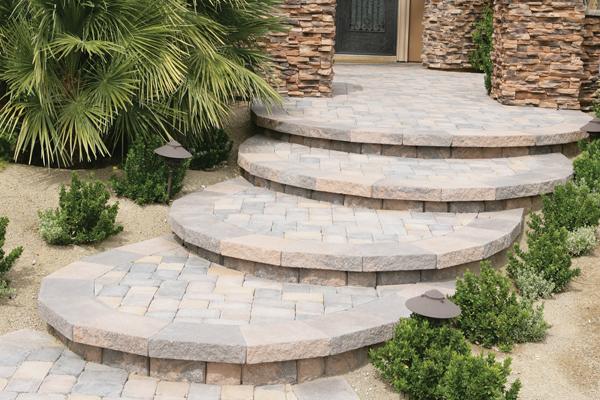 Made Pavers Patio Steps