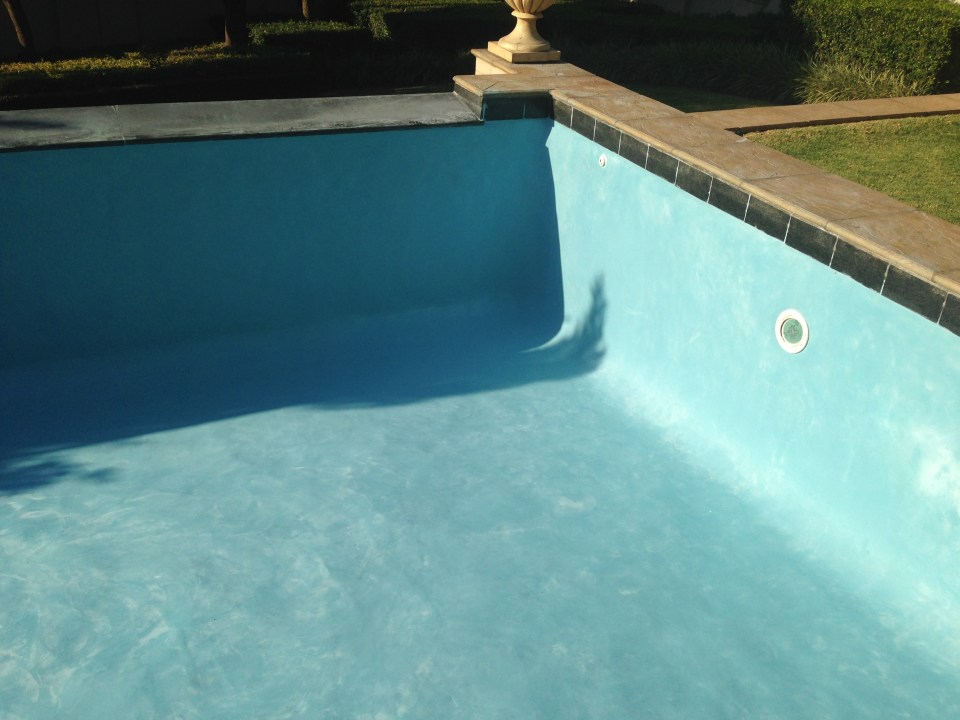 Pool renovation re marbalite sky blue