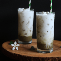 Iced Coconut Matcha Latte
