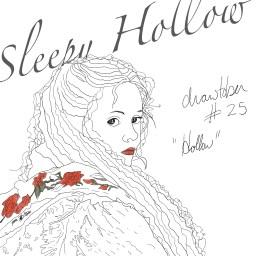 Pencil sketch of Christina Ricci in Sleepy Hollow.