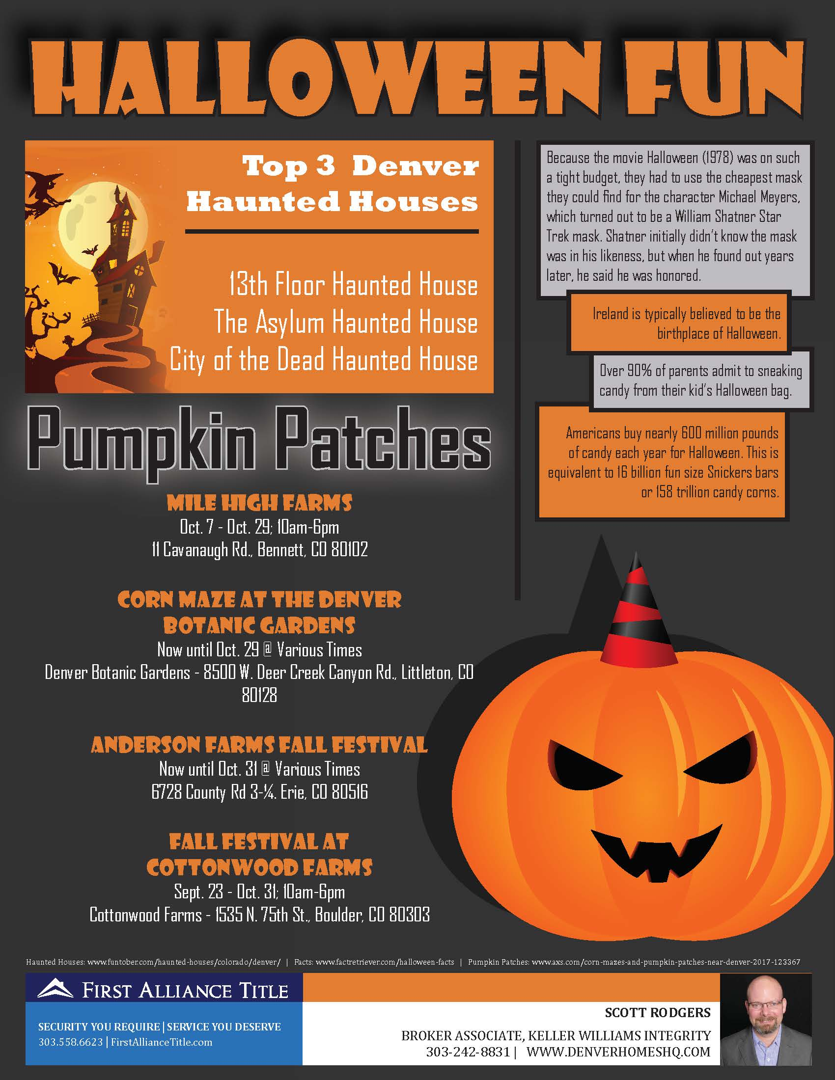 Denver Halloween Haunted Houses And Pumpkin Patches