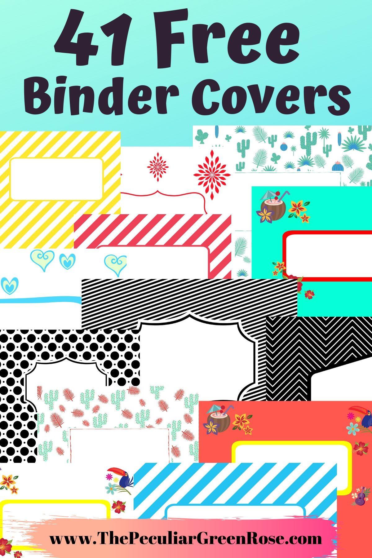 41 Free Printable Binder Covers The Peculiar Green Rose