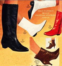 Ladies High Fashion mid 1960's Boots