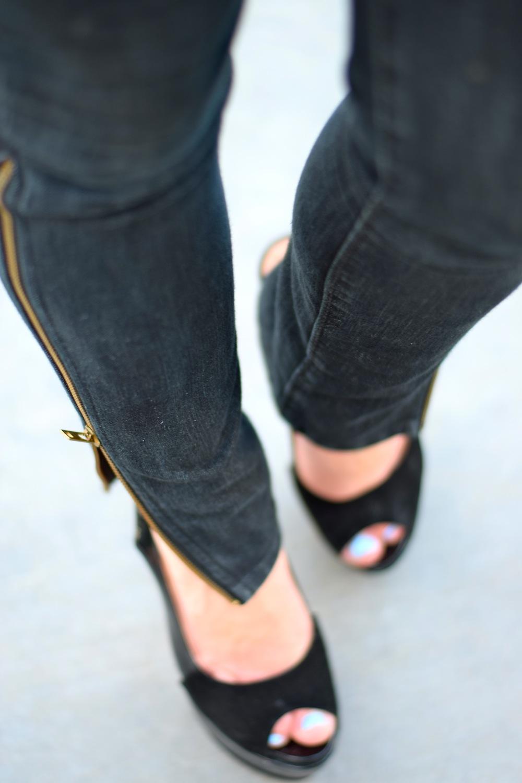 Serfontaine Zip Skinny Jeans