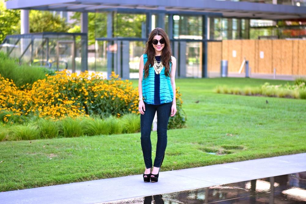 Tie Dye Tank and Skinny Jeans