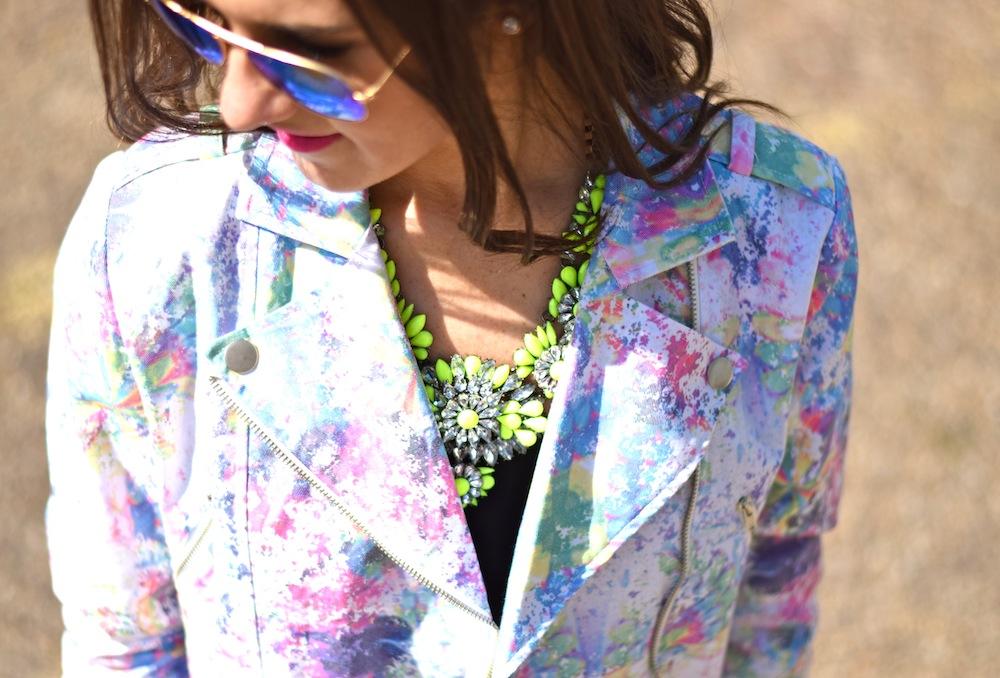 neon bauble necklace
