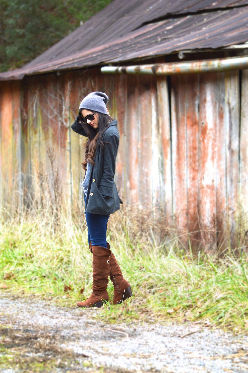 beanie fashion blogger
