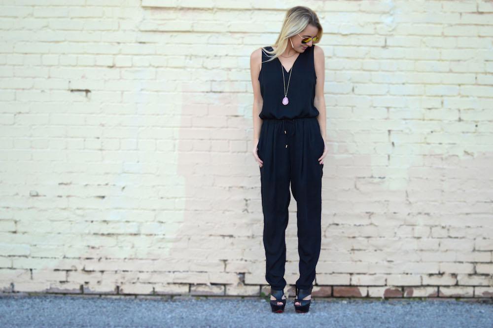 Backless Black Jumpsuit