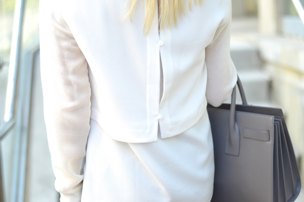 button back layered blouse