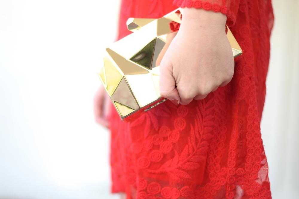 Gold Metal Clutch