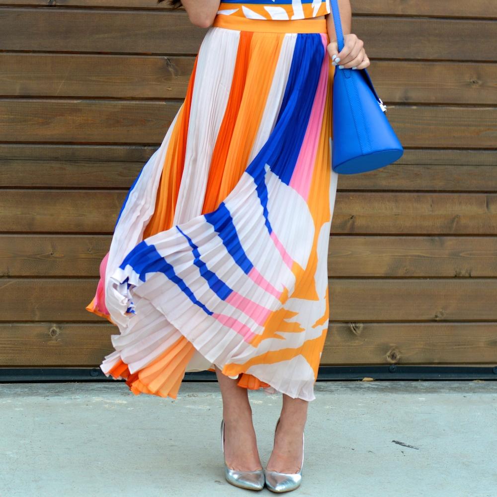 Elle Sasson Pleated Skirt