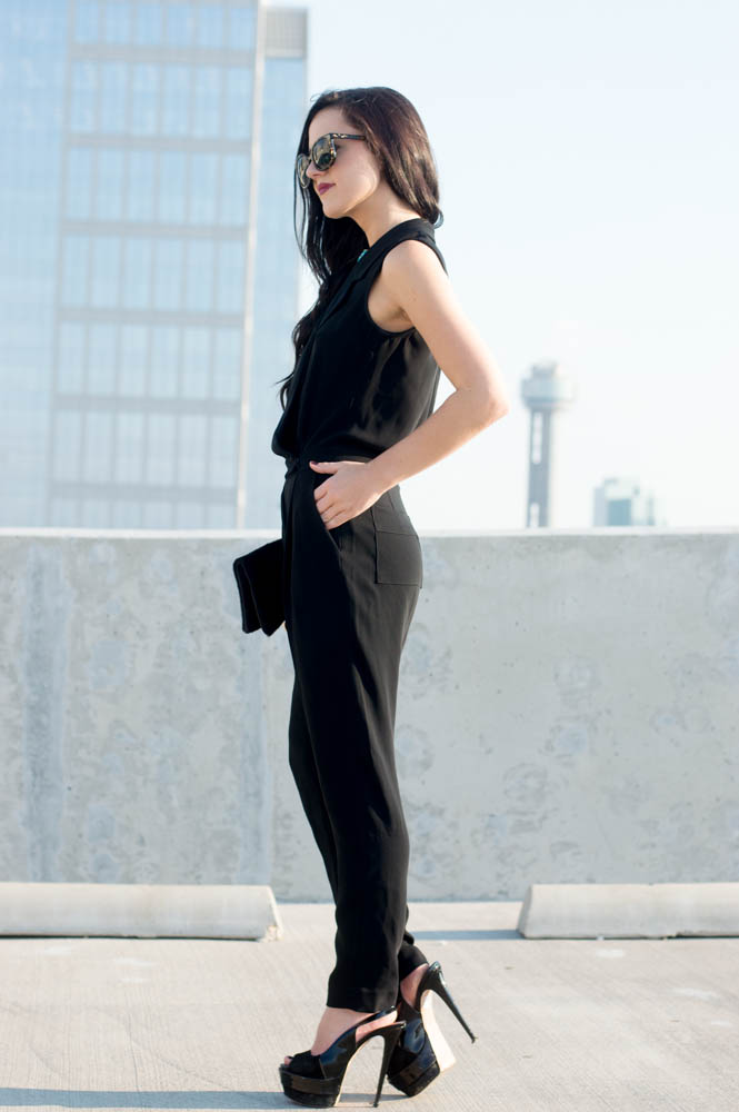 armani exchange black jumpsuit-18