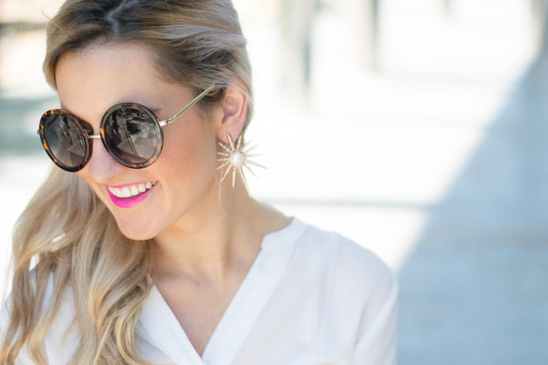kendra scott gold pearl starbust earrings