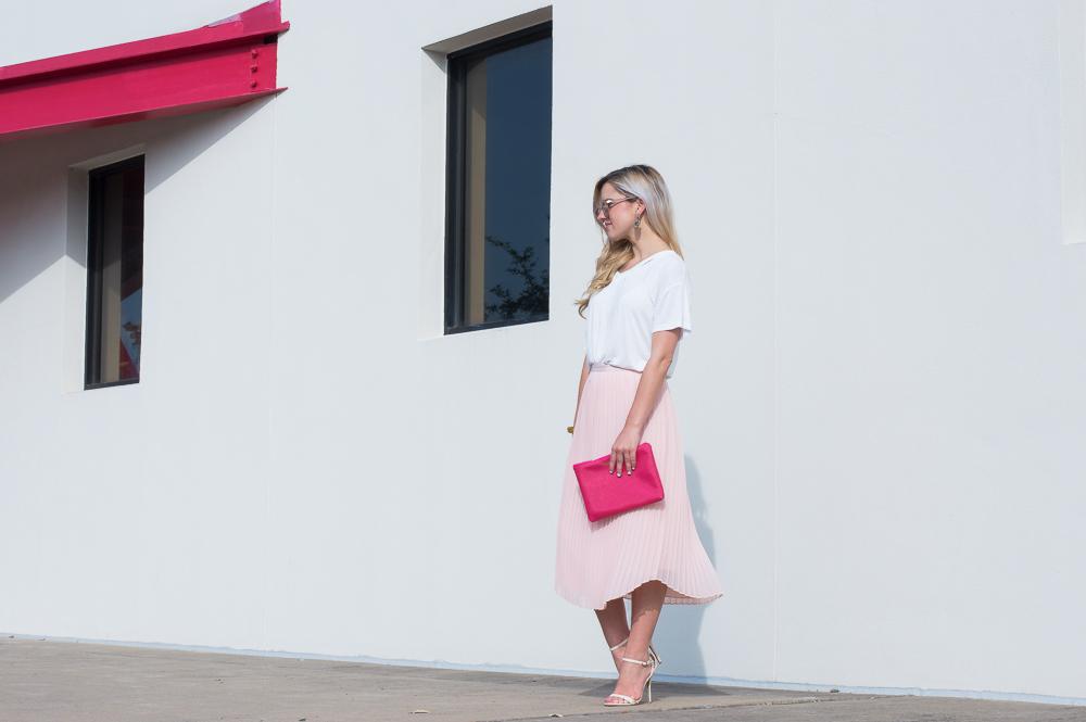blush pleated skirt-10