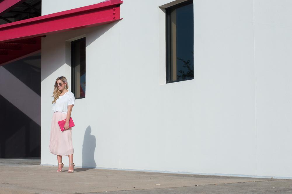 blush pleated skirt-19