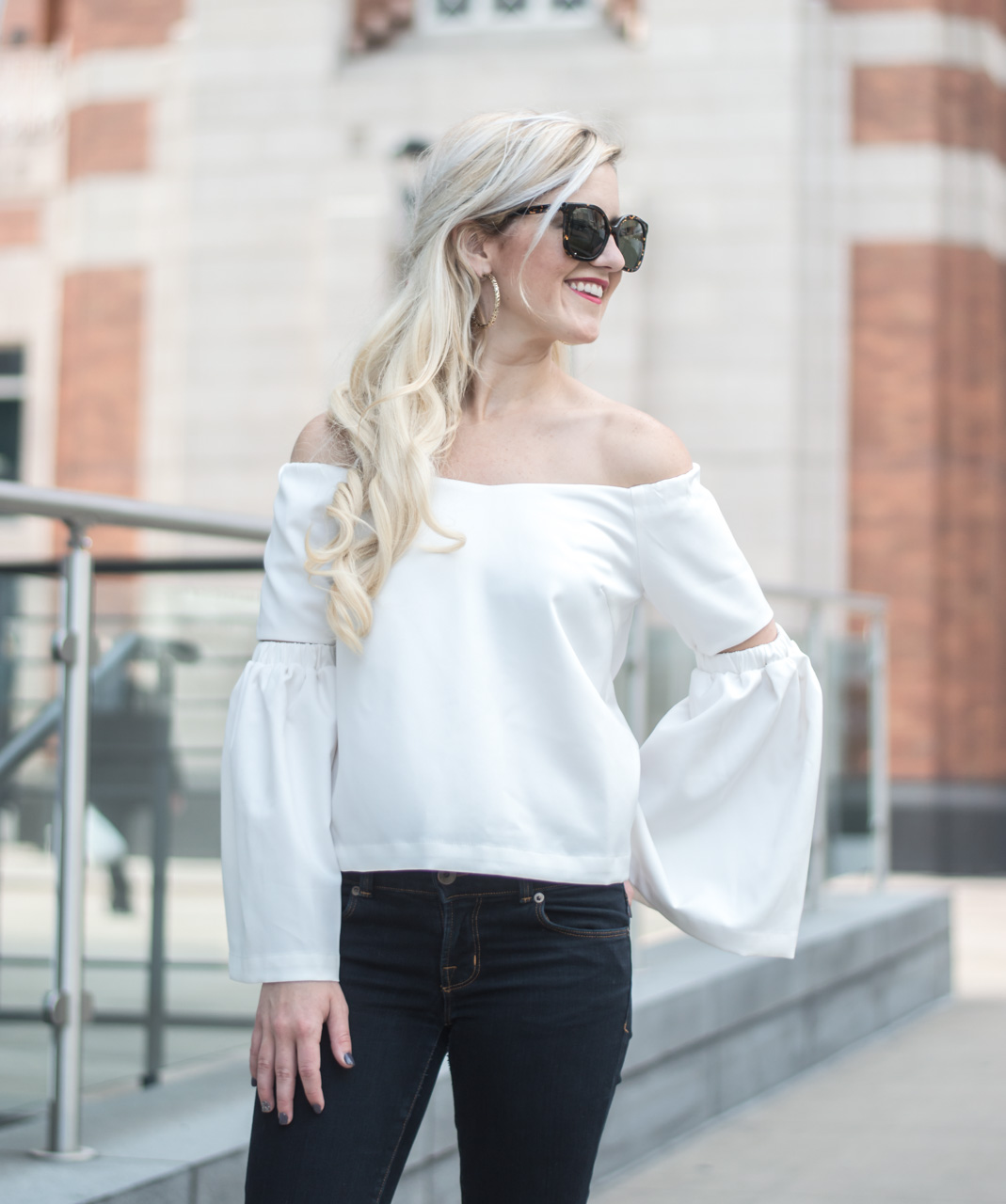 off-the-shoulder-white-flared-top