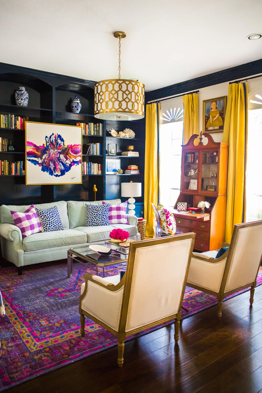 How To Make Antiques Look Modern • The Perennial Style ... on Colourful Living Room  id=78389