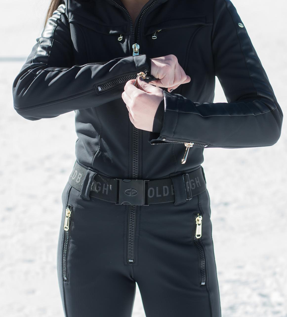 Tight Black Ski Suit