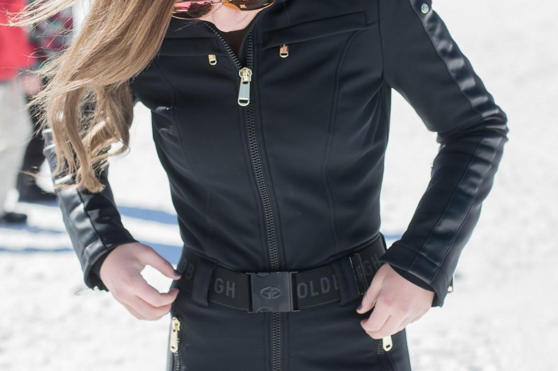 Goldbergh Belted Black Ski Jumpsuit