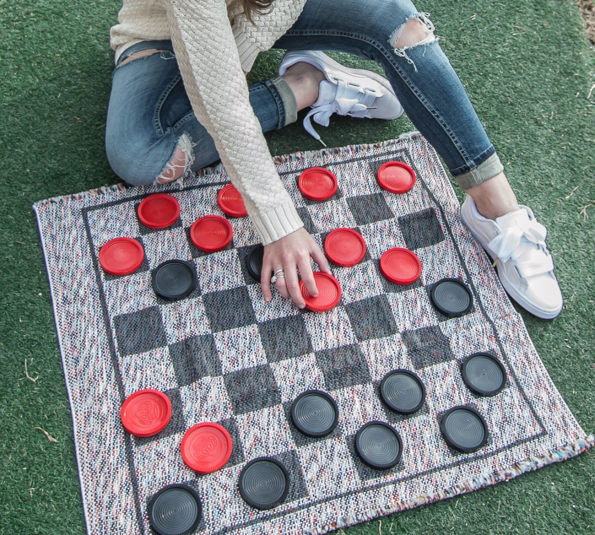 Jumbo Checker Board Backyard Party