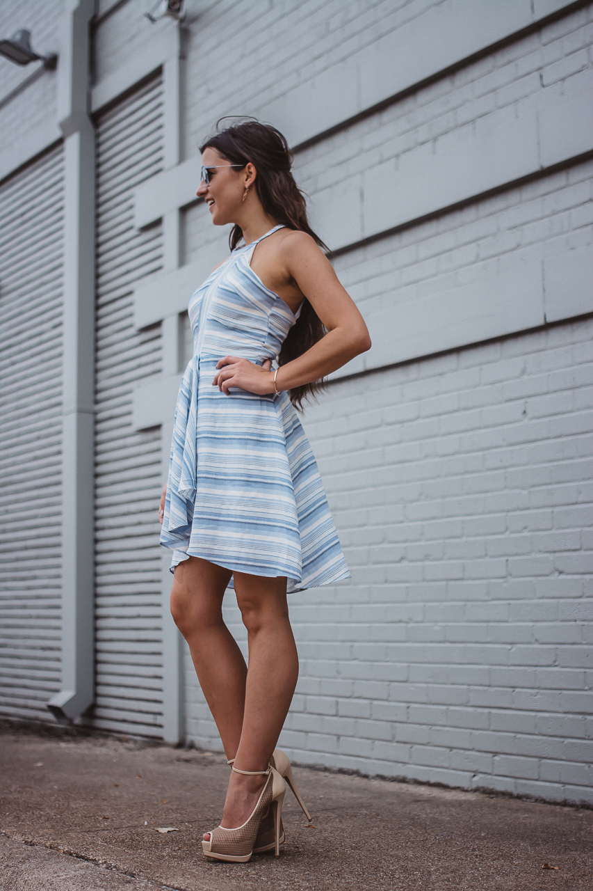 Amanda Uprichard Blue Striped Dress-18