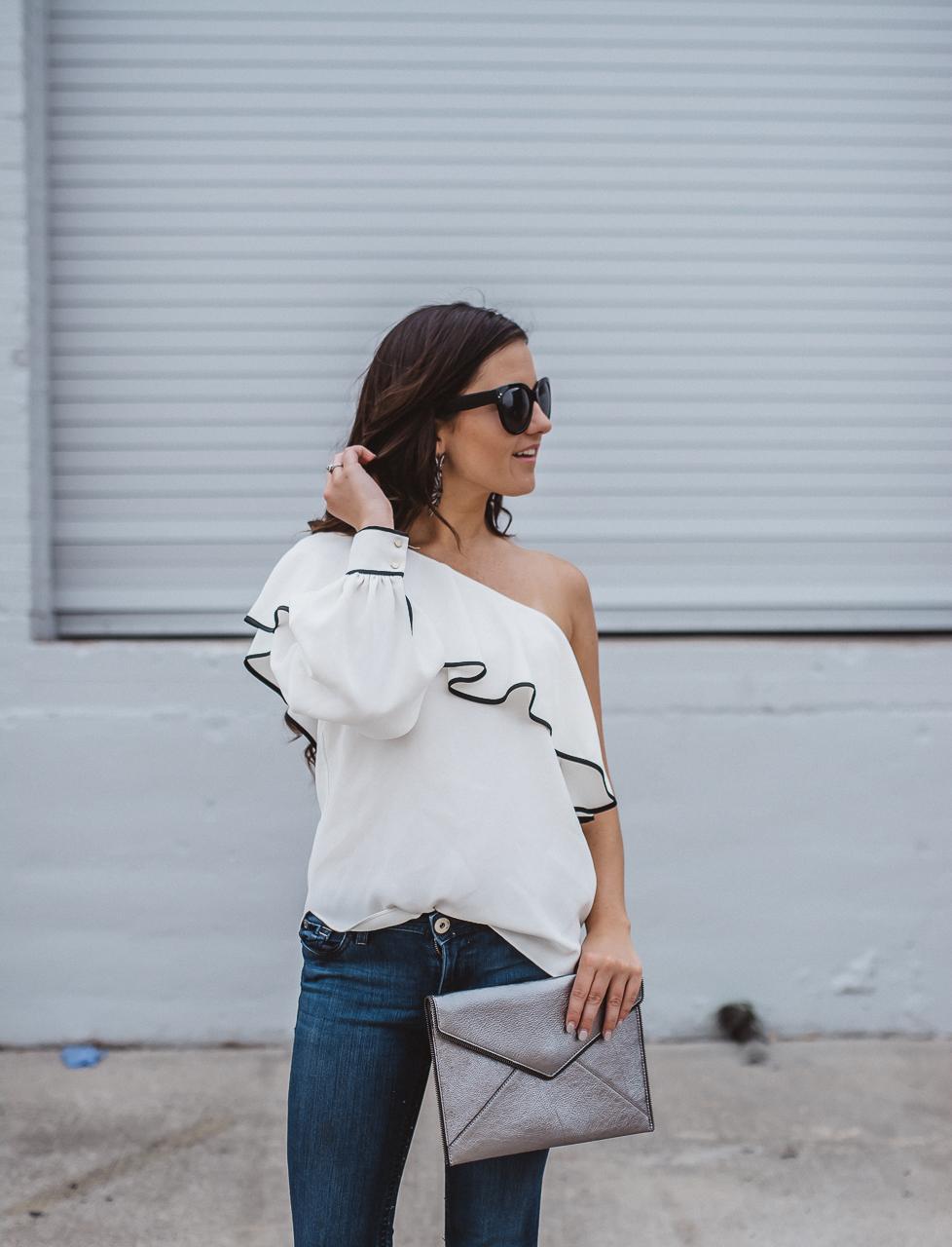 Amanda Uprichard One Sleeve Blouse-10