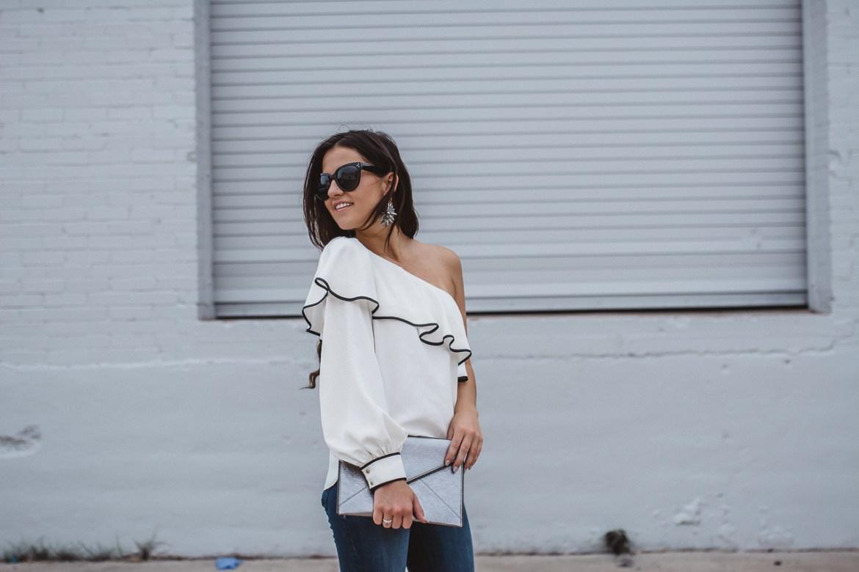 Amanda Uprichard One Sleeve Blouse-18