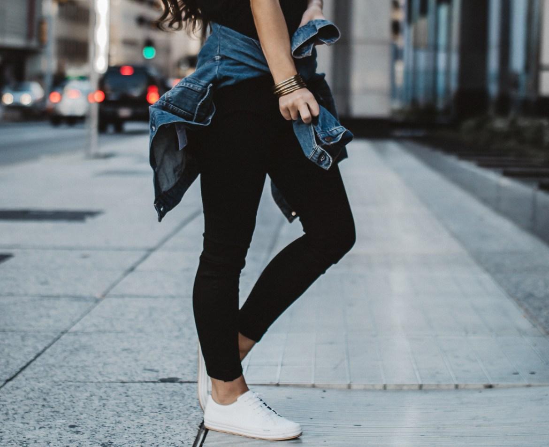 Denim Jacket Black Jeans