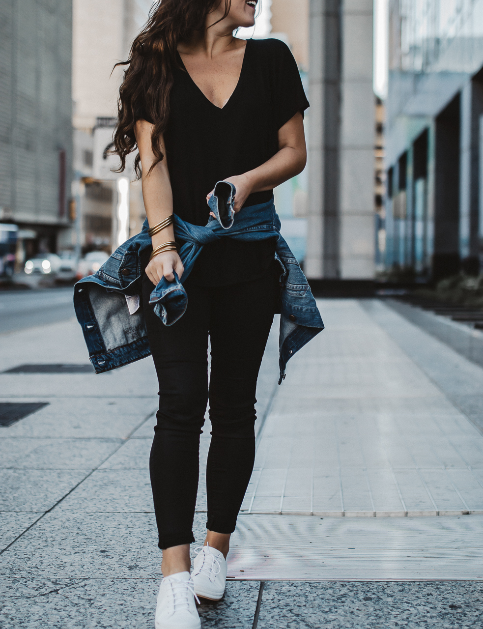 All black fall outfit