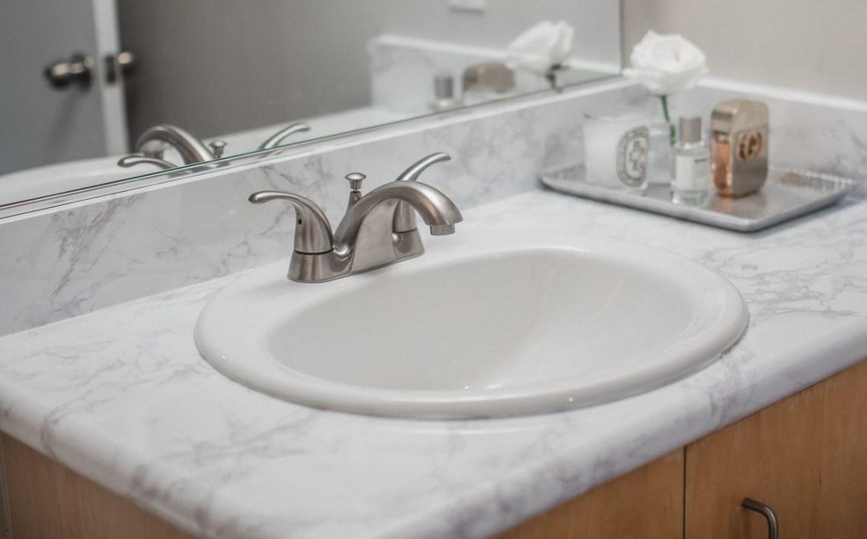 DIY Marble Contact Paper Bathroom Tutorial
