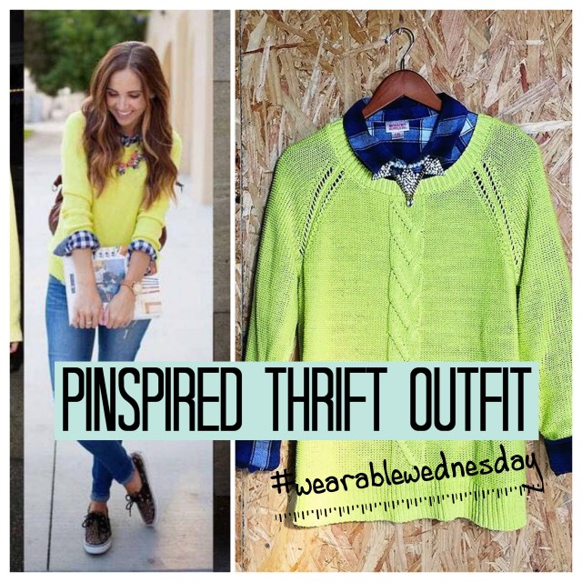 Pinspired Thrift Outfit with Amy of @amy helfrich || twice living