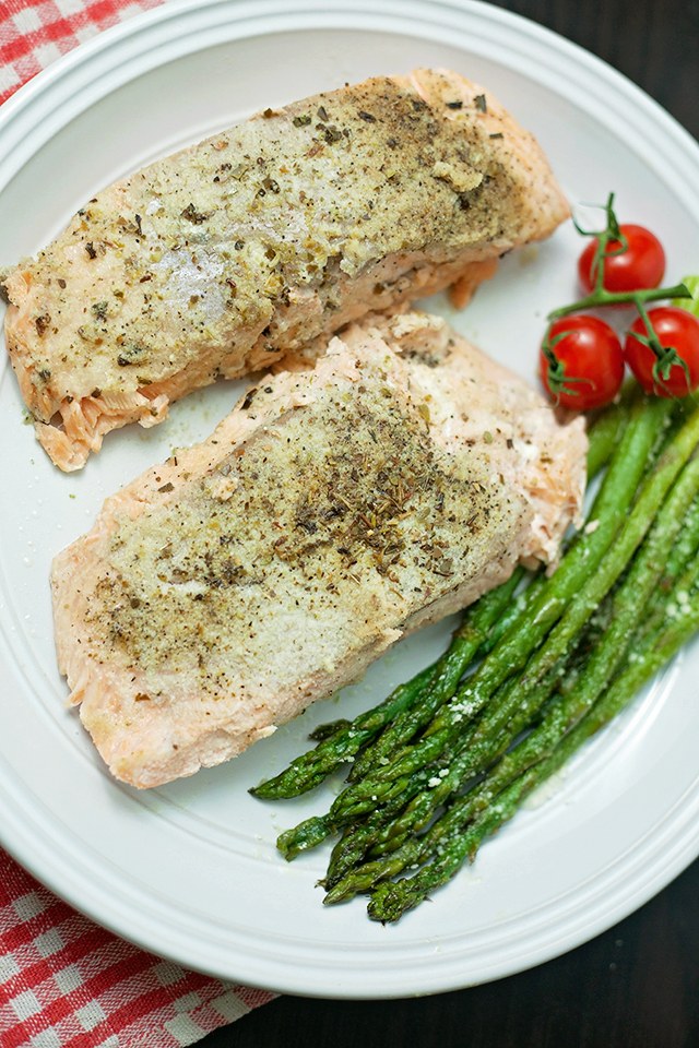 Lemon Pepper Salmon & Parmesan Asparagus Recipe