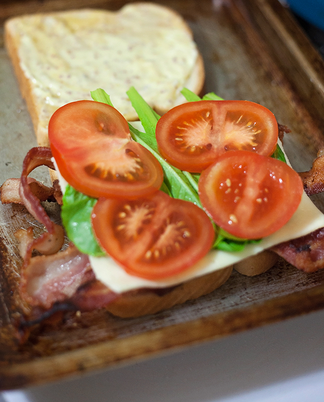 BLT Grilled Cheese with Marys Secret Ingredients Box!