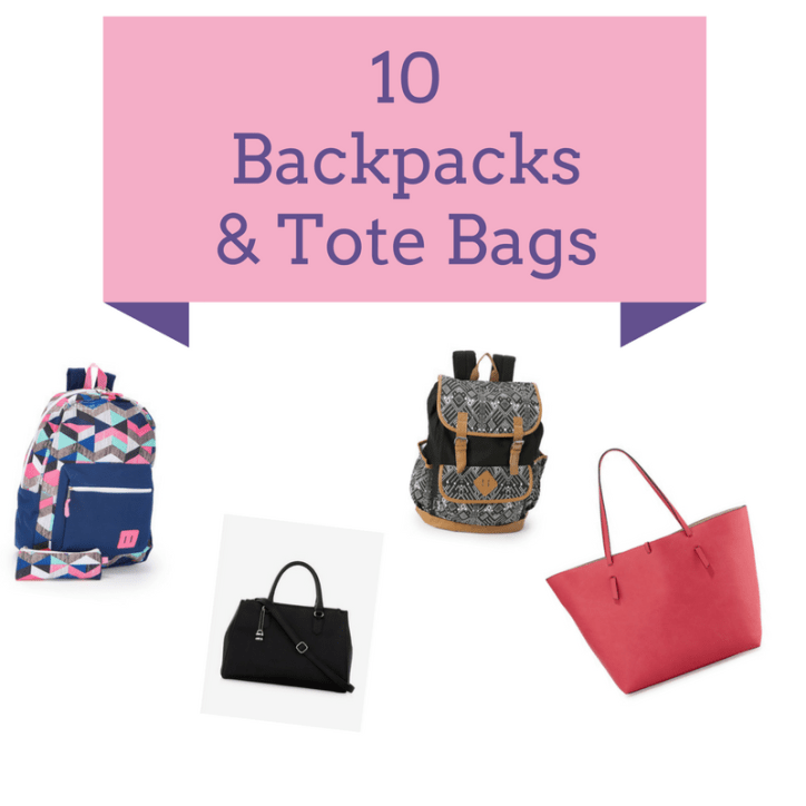 Wearable Wednesday: 10 Backpack & Tote Bags