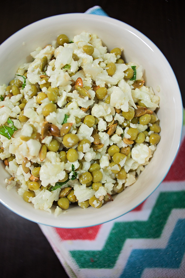 Green Cauliflower Couscous from The Naked Cookbook