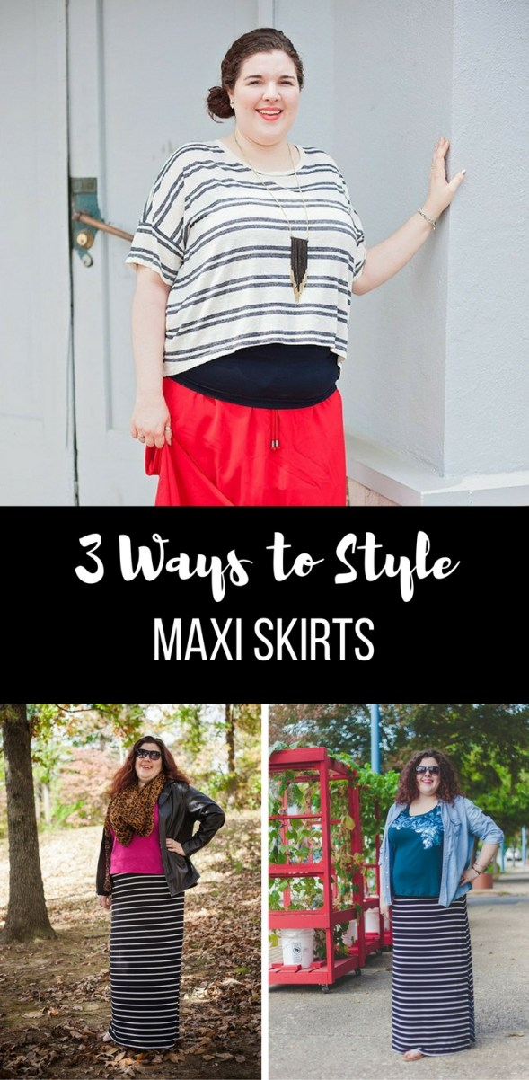 3 Ways to Style Maxi Skirts