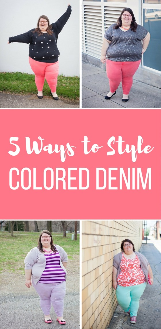5 Ways to Style Colored Denim - Wearable Wednesday #23