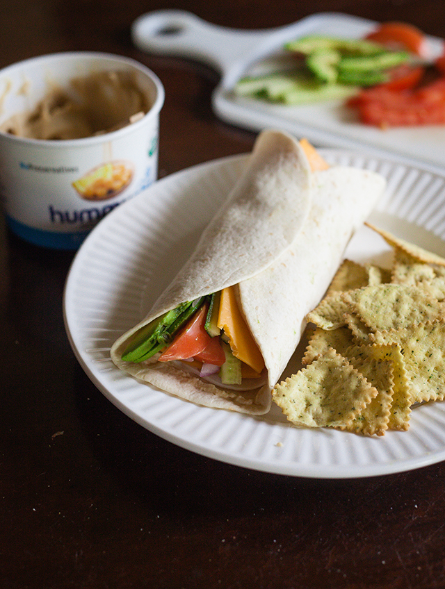 Turkey and Hummus Wraps