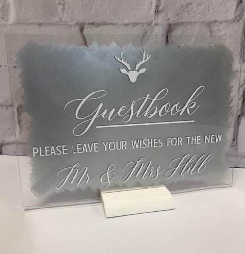 A4 Painted Acrylic Sign