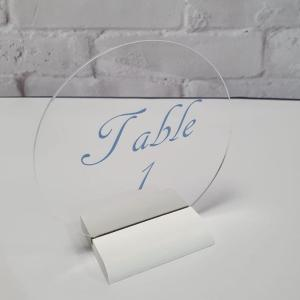 Circle Clear Acrylic Table