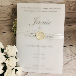 Traditional White Card wedding invitation