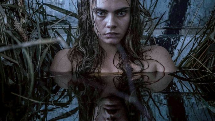 Cara Delvigne's Enchantress in a more contemplative less-covered-in-S&*t moment.