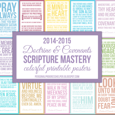 Doctrine & Covenants Seminary Scripture Mastery Colorful Printable Posters