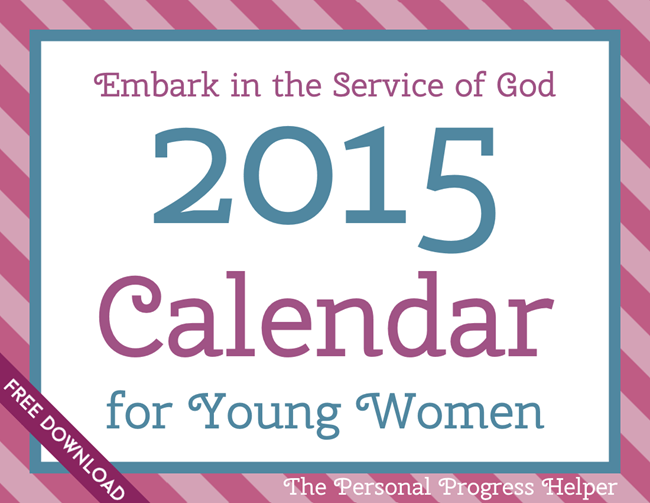 2015 Calendar for Young Women Free Download